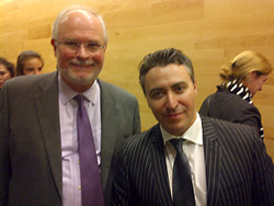 Violinist Maxim Vengerov and Stephen Fogarty. 26.10.2012.