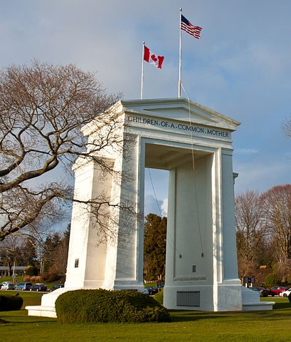 Peace Arch Canada-US Border